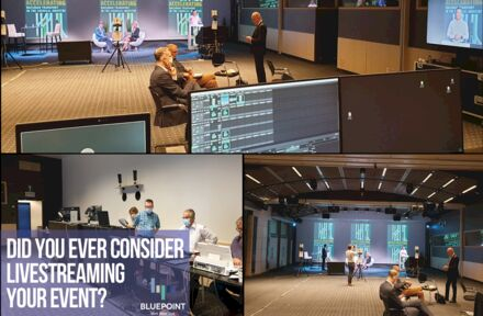 Here's a glimpse of how a live streaming event at BluePoint Brussels is organized!  - Foto 1