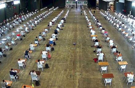 Zo bouwde Flanders Expo het grootste examenlokaal van België - Foto 1