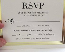 Fancy Wedding Invitation Accidentally Puts 'Children' on the Menu