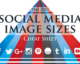 Ultimate Overview Social Media Image Sizes 2017 - infographic